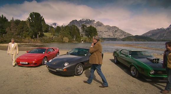 Prowadzący Top Gear wybrali Lotusa Esprit, Forda Mustanga i Porsche 928