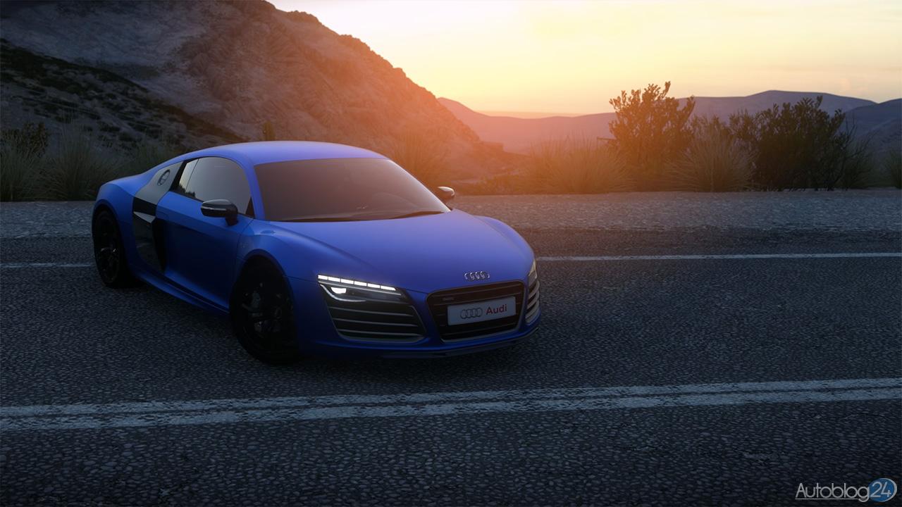 Tryb Zdjęć w DriveClub - Audi R8 - zachód słońca