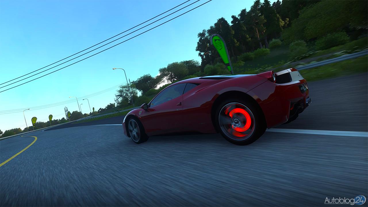 Tryb Zdjęć w DriveClub - Ferrari 458 Italia - hamowanie