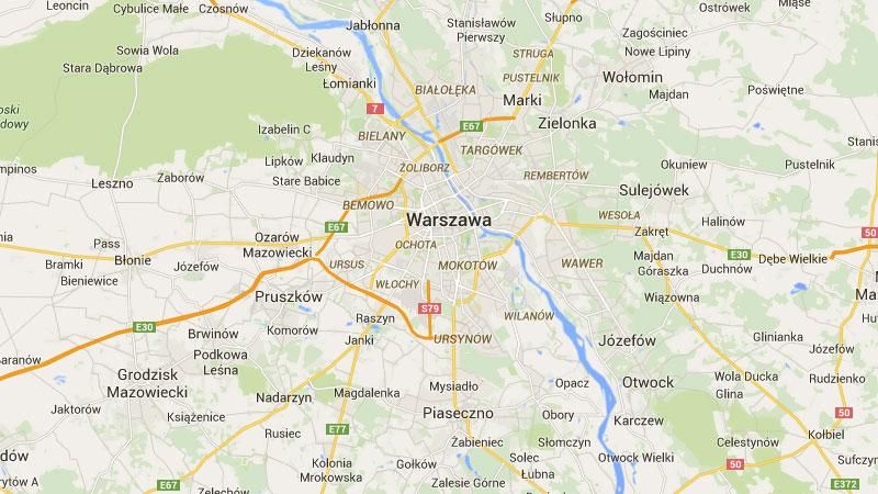 Mapa Warszawy - A2 to jedyne ekspresowe połączenie miasta ze światem