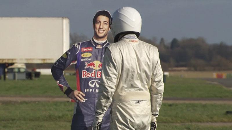 Stig uderza Daniela Ricciardo w Top Gear