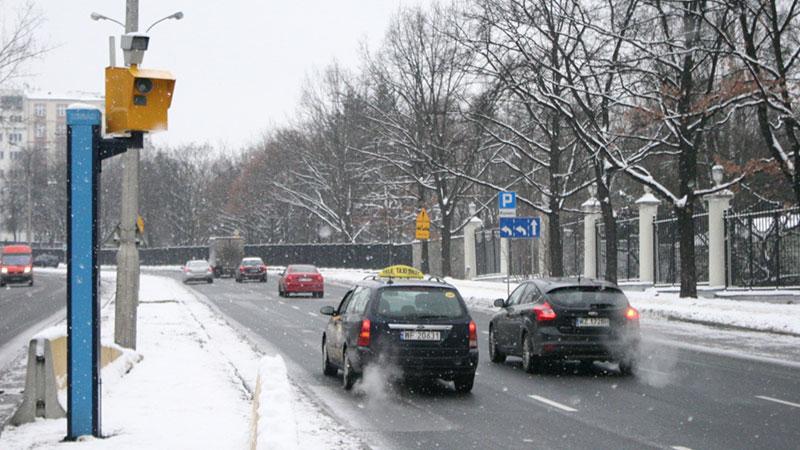 Fotoradar stacjonarny - Warszawa