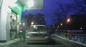 Niespodziewana awaria na stacji benzynowej – film