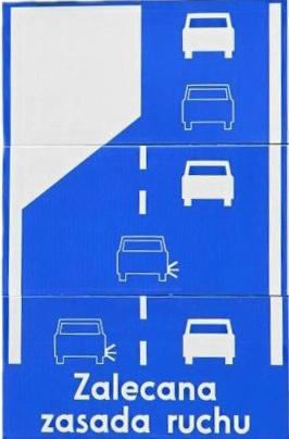 Zalecana zasada ruchu - metoda zamka błyskawicznego