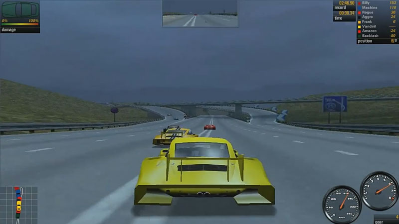Trasa Autobahn w Need for Speed: Porsche 2000