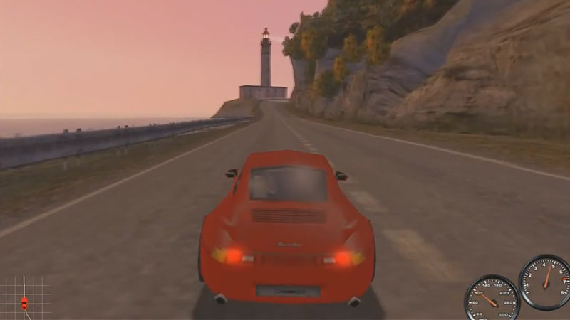 Jedna z tras w Need for Speed: Porsche 2000 - Cote d'Azur