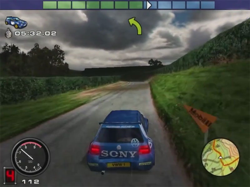 Rally Championship - Volkswagen Golf na trasie odcinka specjalnego