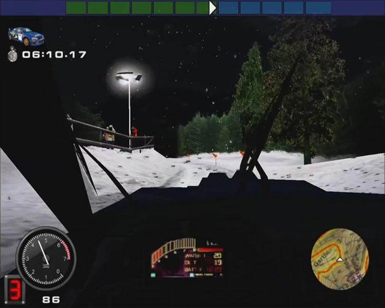 Nocny odcinek specjalny w Rally Championship 2000
