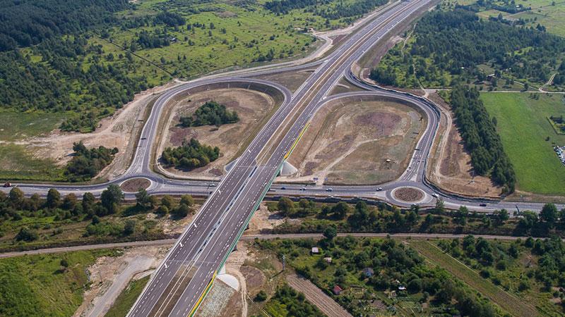 Węzły na autostradzie bywają bardzo rozbudowane