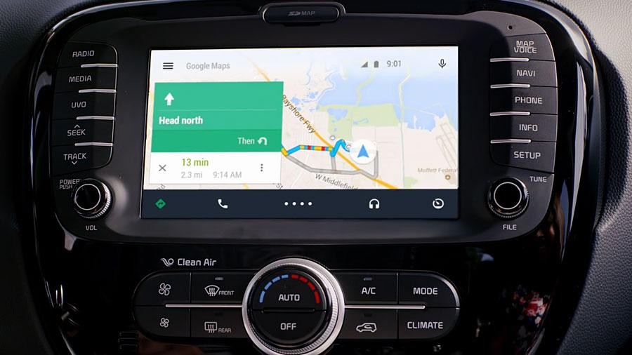 Interfejs użytkownika w Android Auto