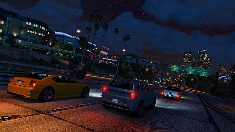 W GTA V spotkać można rozbudowaną sieć autostrad