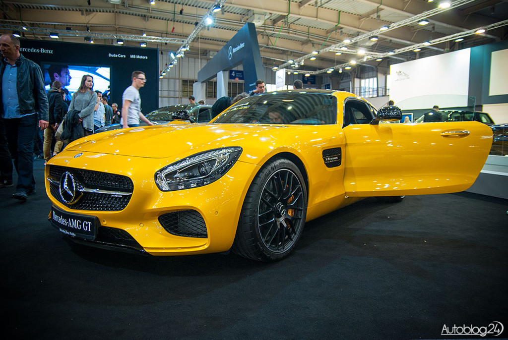 Na stoisku Mercedesa na Poznań Motor Show obecny był model AMG-GT