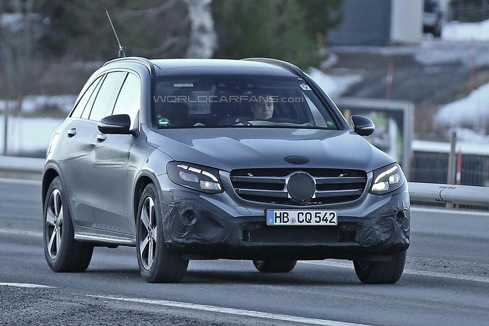 Mercedes GLC - przód (zdjęcie szpiegowskie)