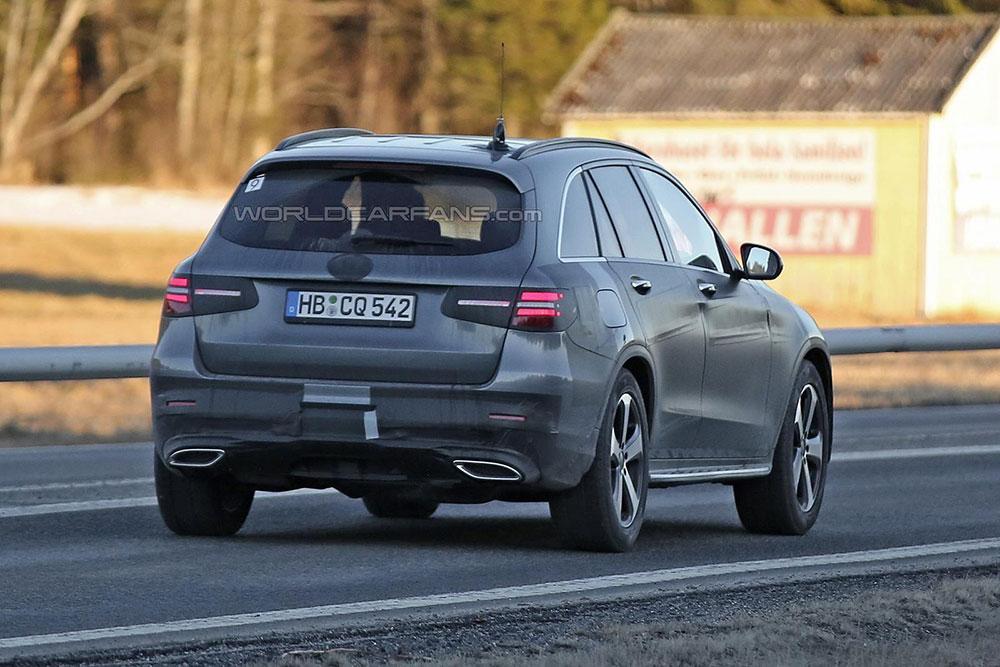 Mercedes GLC - tył (zdjęcie szpiegowskie)