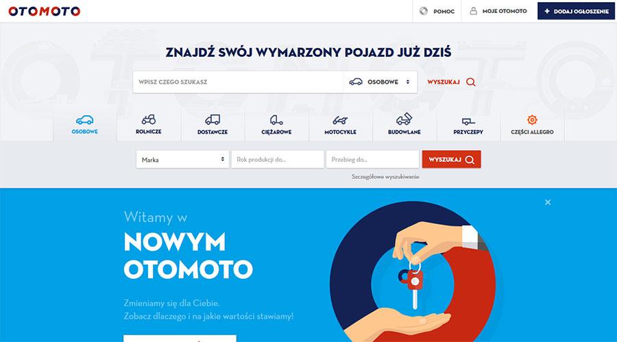 Tak wygląda nowa szata graficzna OtoMoto.pl