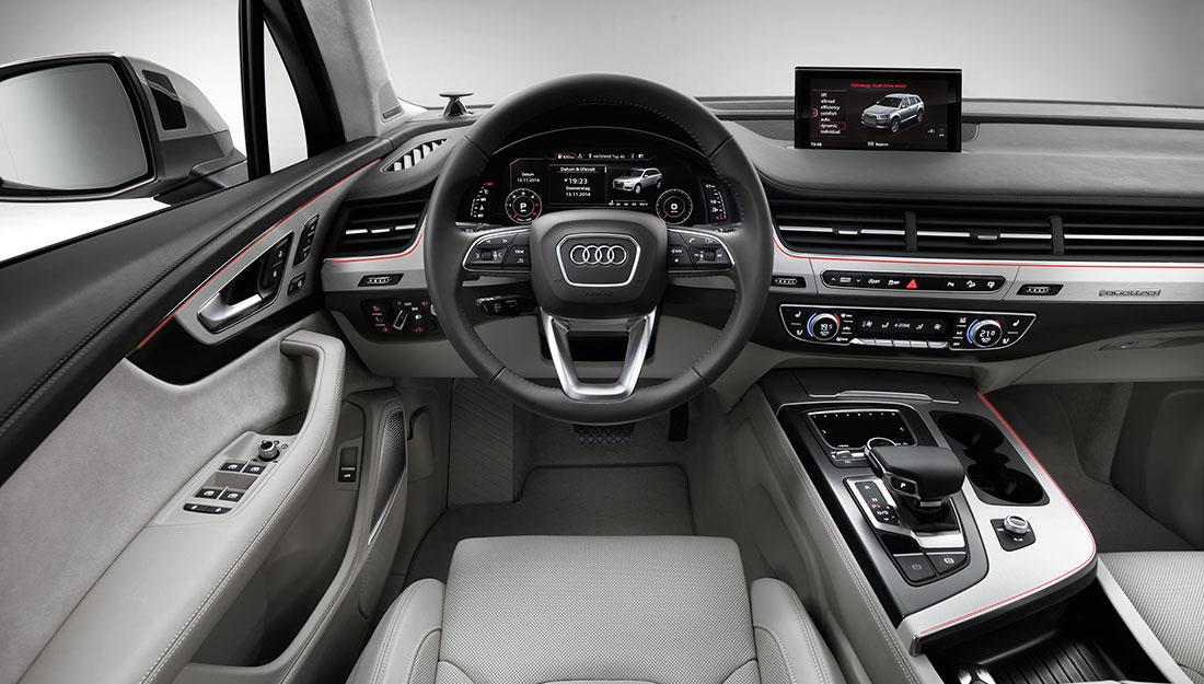 Nowe Audi Q7 (2015) - tak wygląda wnętrze samochodu