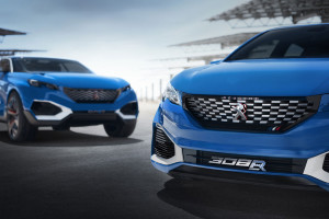 Peugeot 308 R HYbrid Concept - rasowy grill