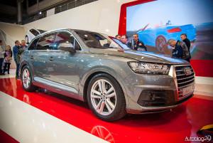 Premiera nowego Audi Q7 na Poznań Motor Show 2015 - przód samochodu