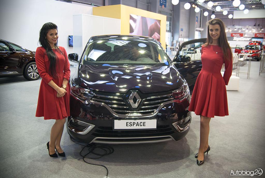Poznań Motor Show hostessy - nowe Renault Espace i piękne kobiety
