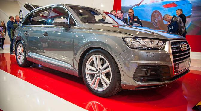 Premiera nowego Audi Q7 i inne samochody na stoisku marki na targach motoryzacyjnych w Poznaniu