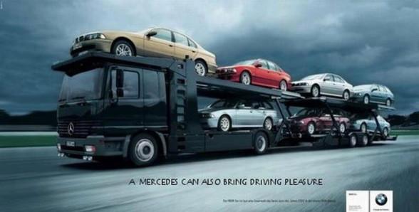 Reklama BMW w której wziął udział też Mercedes