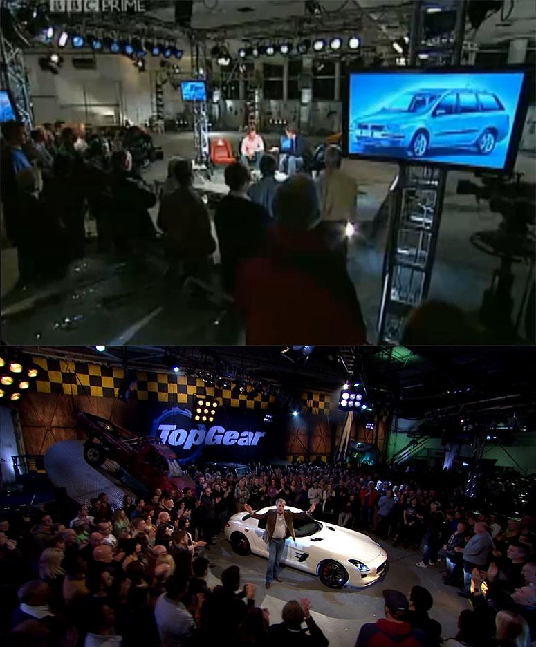 Studio Top Gear w S01 oraz w S22 - porównanie