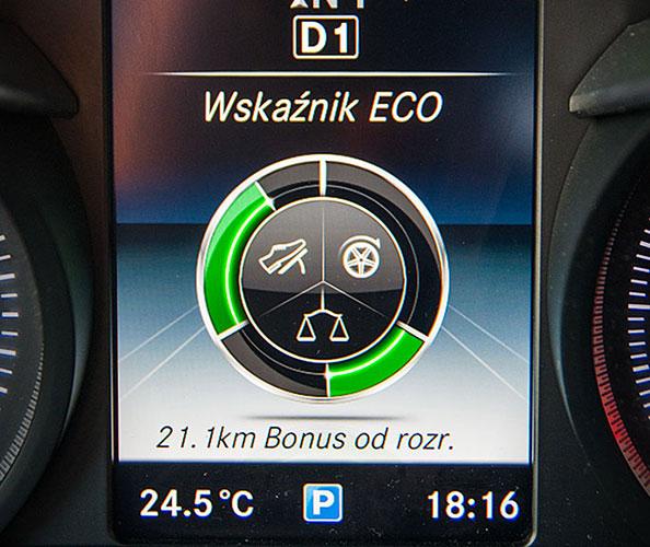 Wskaźnik ECO w Mercedesie C200