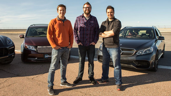 Tanner Foust, Rutledge Wood, Adam Ferrara - prowadzący Top Gear USA