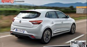 Wizja tyłu nowego Renault Megane IV (2016)