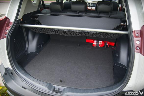Toyota RAV4 - pojemny bagażnik