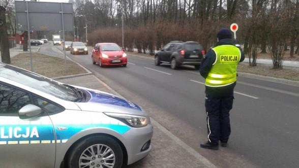 Kontrola prędkości przez policję