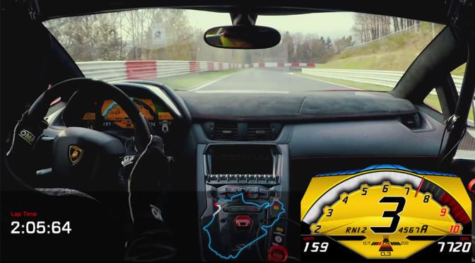 Lamborghini Aventador LP 750-4 SV na Nurburgring (wideo) - takie rzeczy można oglądać bez końca