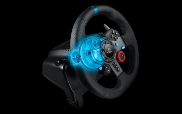 Logitech G29 PlayStation 4 - przekrój systemu force feedback