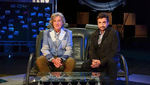 James May i Richard Hammond w studio Top Gear