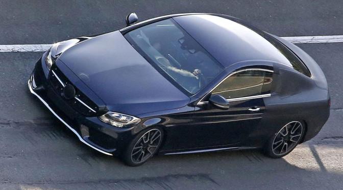 Nowy Mercedes Klasy C Coupe (W205) – zdjęcia szpiegowskie ujawniają naprawdę atrakcyjne kształty