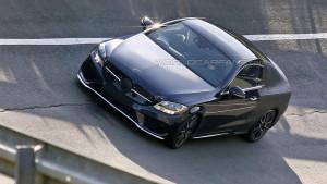 Mercedes Klasy C Coupe W205 - odsłonięty przód