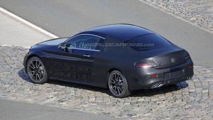 Mercedes Klasy C Coupe W205 - tył w maskowaniu