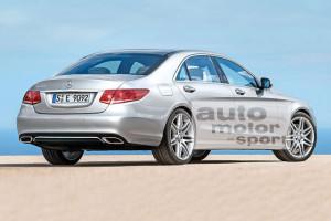 Nowy Mercedes Klasy E W213 - wizja nadwozia sedan
