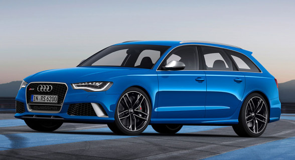 Audi RS6 ma piękny niebieski kolor