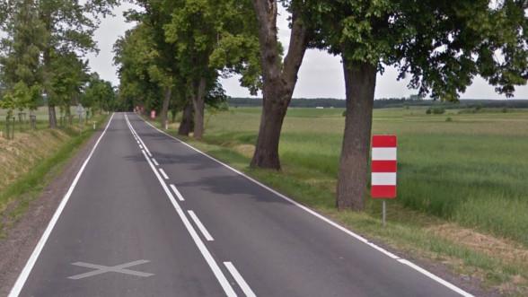 Drzewa na DK 59 są bardzo blisko jezdni