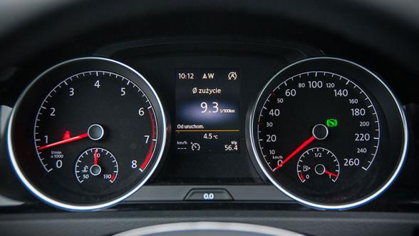 Zegary w Volkswagenie Golfie