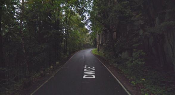Droga Wojewódzka 387 - odcinek leśny