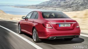 Nowy Mercedes Klasy E (W213) - tylna część nadwozia
