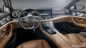 Ciemne wnętrze w nowym Mercedesie Klasy E (W213)
