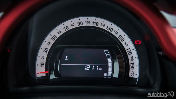 Renault Twingo - uproszczone zegary