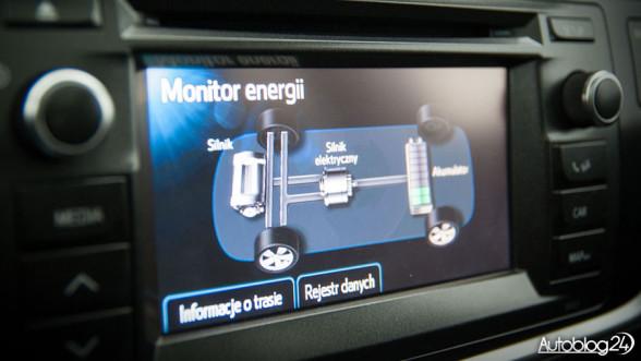 Hybrydowa Toyota Auris - monitor energii