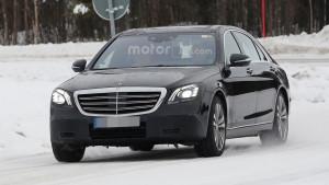 Mercedes Klasy-S W222 facelifting - przód
