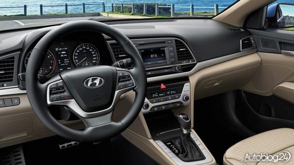Nowy Hyundai Elantra 2016 - wnętrze