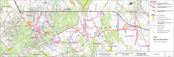 S8 obwodnica Marek - mapa