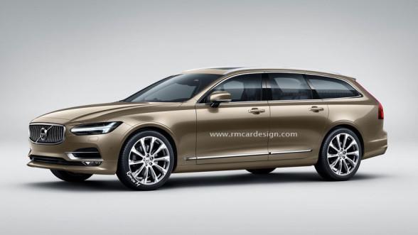 Render Volvo V90 oparty o zdjęcia szpiegowskie